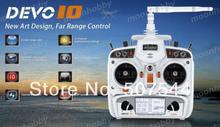 Devo 10 white 2.4Ghz 10Ch Walkera Radio Walkera QR X350 PRO Parts Free Shipping with tracking