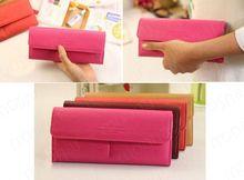 2016 Hot Women's PU envelope clutch bag long leather Wallet Ladies designer Purse Checkbook Handbag(China (Mainland))