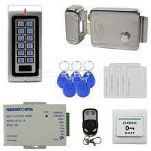 Buy DIYSECUR Waterproof Complete 125KHz RFID Metal Keypad Access Control System Kit Set + Electric Door Lock + Power Supply for $118.91 in AliExpress store