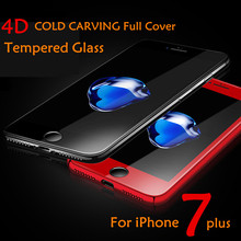 Buy 2017 4D Round Curved Edge Tempered Glass iPhone 7 7 Plus 6 6S Full Coverage Screen Protector Film Toughened Glass HD Clear for $5.51 in AliExpress store