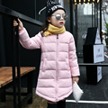 Height 105 140cm Fashion Chidren Long style winter down jacket Casual Autumn outwear for girls Kids