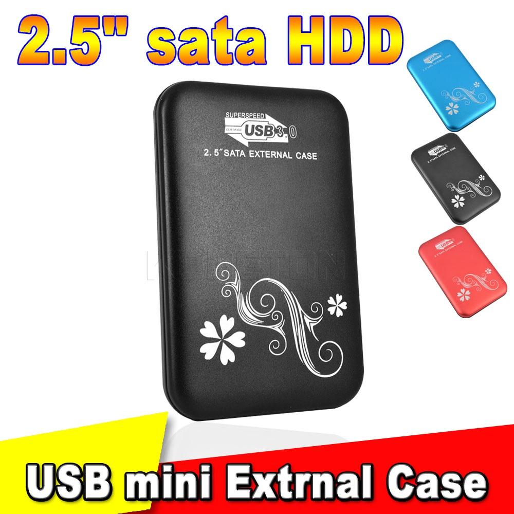 """Hot Sale Metal 2.5"""" 2.5 inch USB3.0 SATA HDD Box External Storage Aluminium Hard Drive Disk Enclosure Case Drop Shipping(China (Mainland))"""