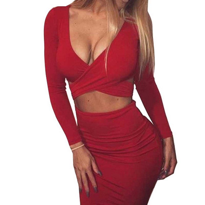 Summer dress 2016 new women long-sleeved bodycon short sexy dress for night club party(China (Mainland))