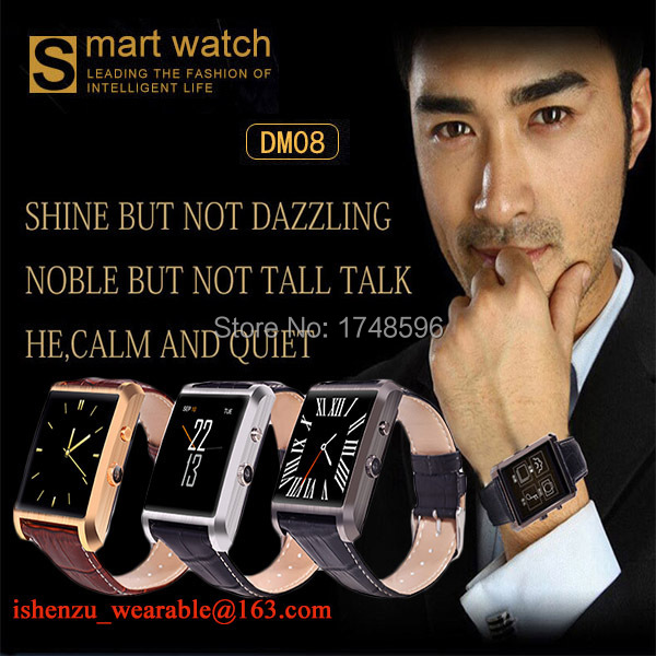 New arrival! IOS Gold smartwatch business bluetooth smart watches remote control digital camera watch(China (Mainland))
