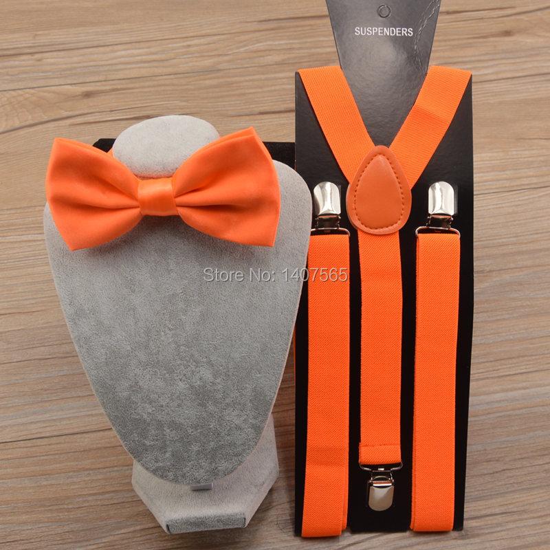 Бесплатная доставка 1 компл. унисекс в подтяжк и галстук-бабочка свадьба ну вечеринку 2.5 см эластичный подтяжк с регулируемым слайды никель клип