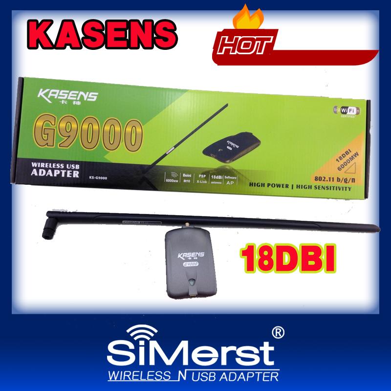 Kasens KS-G9000 ralink3070 18db 6000mW high power wireless usb adapter free shipping factory wap wpa2 password 802.11 b/g/n lan(China (Mainland))