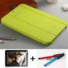 Original Smart Leather Case Business Book Cover for Samsung Galaxy Note 8.0 N5100 N5110 With Slim 3 Folding Stand Cases+pen+film