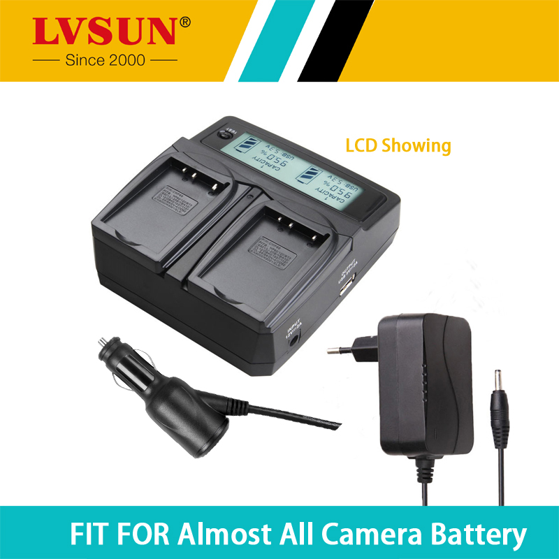 LVSUN Universal DC & Car Camera Battery Charger for NB6L NB-6L Batteries for Canon Power-shot Cameras SX520 HS SX530 SX600 SX610(China (Mainland))