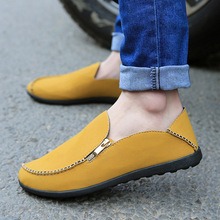 Vintage Brand New Swede Leather casual men's shoes All match Men sneakers loafers Flats Canvas shoes for Men Free Shipping(China (Mainland))