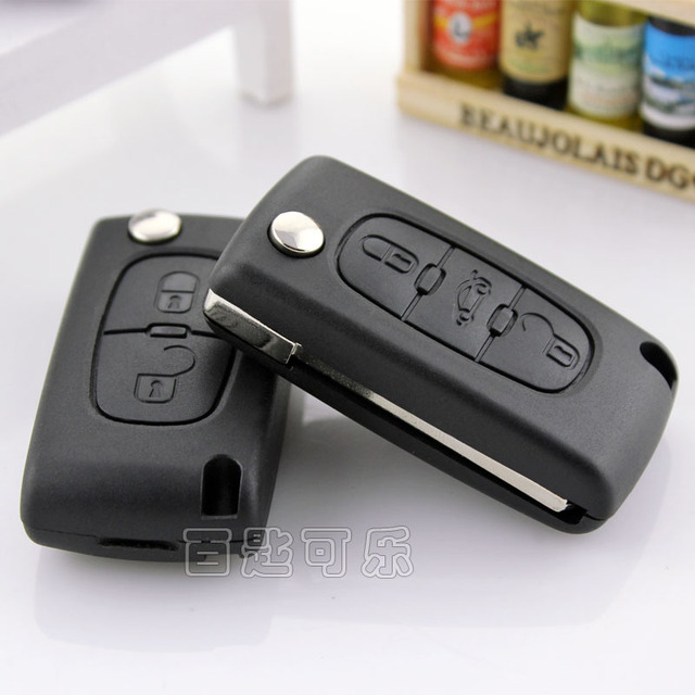 Car Pulchritudinous 307308 folding key citroen triumph c4c5 folding remote control bombards key shell