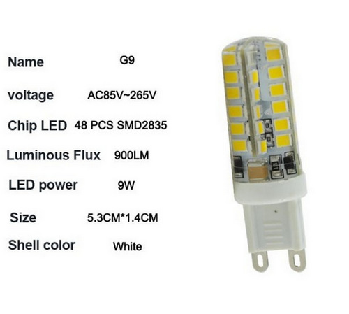 Free shipping 2015 New G9 dimmable LED Lamp corn bulb droplight SMD 2835 9W 110v 220V 9W Replace 20W halogen(China (Mainland))