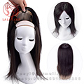 Silk base Human toupee Hand tied Brazilian remy Human hairpieces replacement hair system Straight women invisible