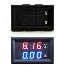A96 Free Shipping DC 100V 10A Voltmeter Ammeter Blue + Red LED Amp Dual Digital Volt Meter Gauge
