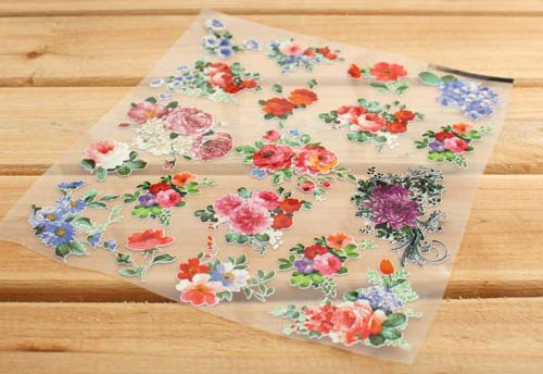 Free shipping /Pure and fresh flowers film pyrography /DIY handmade Offset printing/iron-on cotton fabric sticker / wholesale(China (Mainland))