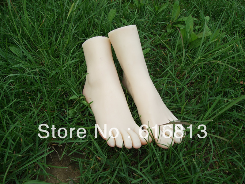 hot sex real doll solid silicone Pussy Feet fake women feet model shoes shown girls foot #3710 EMS free shipping(China (Mainland))