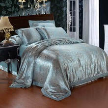 100% viscose Classic western jacquard style high quality bedding set 4pcs include Duvet Cover/Bedsheet/Pillowcase Free Shipping(China (Mainland))