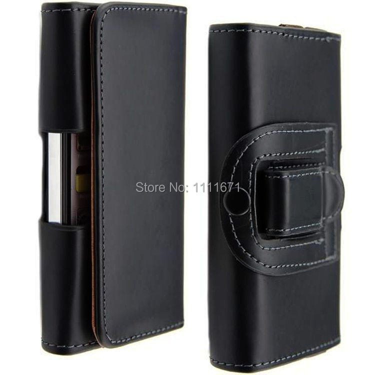 Universal holster Leather Wallet Case Belt Clip THL T100S W100S W200 W8S T5 T5S SE W11 ZOPO C2 ZP980 ZP810 C3 ZP700 - Sunny Store store