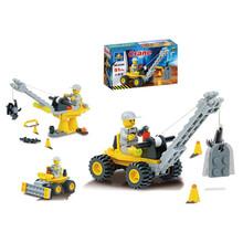 New Arrival 51pcs/set DIY Building Blocks Toy Mini Crane Action Figure Toy Children Puzzle Toy Wholesale(China (Mainland))