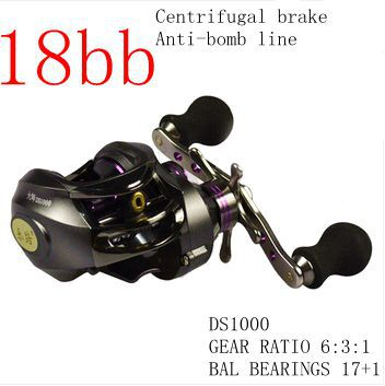 Miracle 18BB Baitcasting Fishing Reel 18 ball bearings carp fishing gear 6.3:1 EVA handle Right/Left hand wheel carretilha pesca(China (Mainland))
