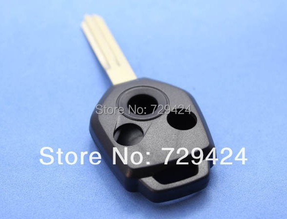 New uncut blade 3 button Remtoe Key Shell For Subaru remote key fobs covers replacement shell,()