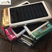 Newest solar power bank external charger 15000mah power bank 3 interfaces with led flashlight External Battery for all phone