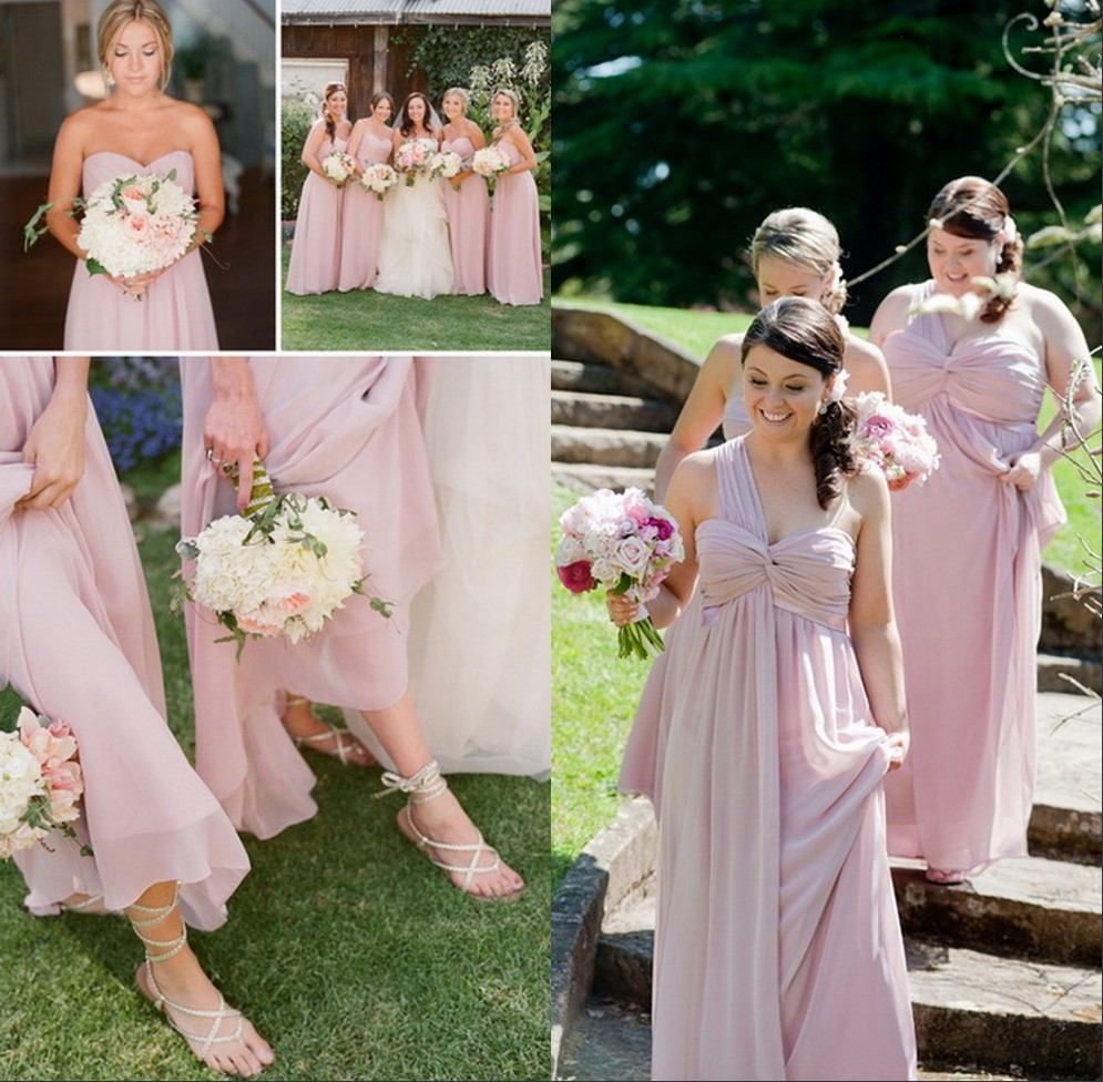 Pink And Silver Bridesmaid Dresses - Ocodea.com