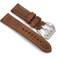 The new arrival High Quality Genuine Leather Strap For panerai 22mm 24mm Retro Brown Watchband Fast