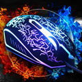 New High Quality 6 Buttons USB Wired Gaming Mouse Multi Color LED Optical Cable Mice For