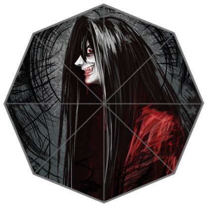 Novelty products umbrella Vampire Dracula customize Top quality three folding umbrella Anti-sun and rain for outdoor use fashion(China (Mainland))