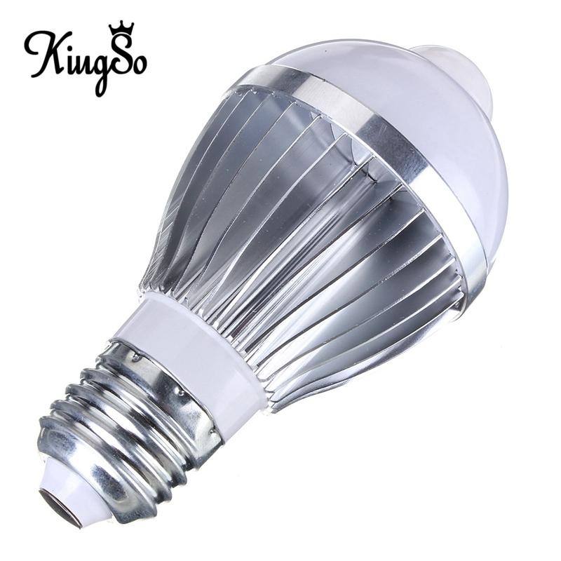Newest Kingso E27 5W Auto PIR Infrared Motion Sensor Detection White Warm White 5730 SMD LED Bulb Lamp Lights 85-265V<br><br>Aliexpress