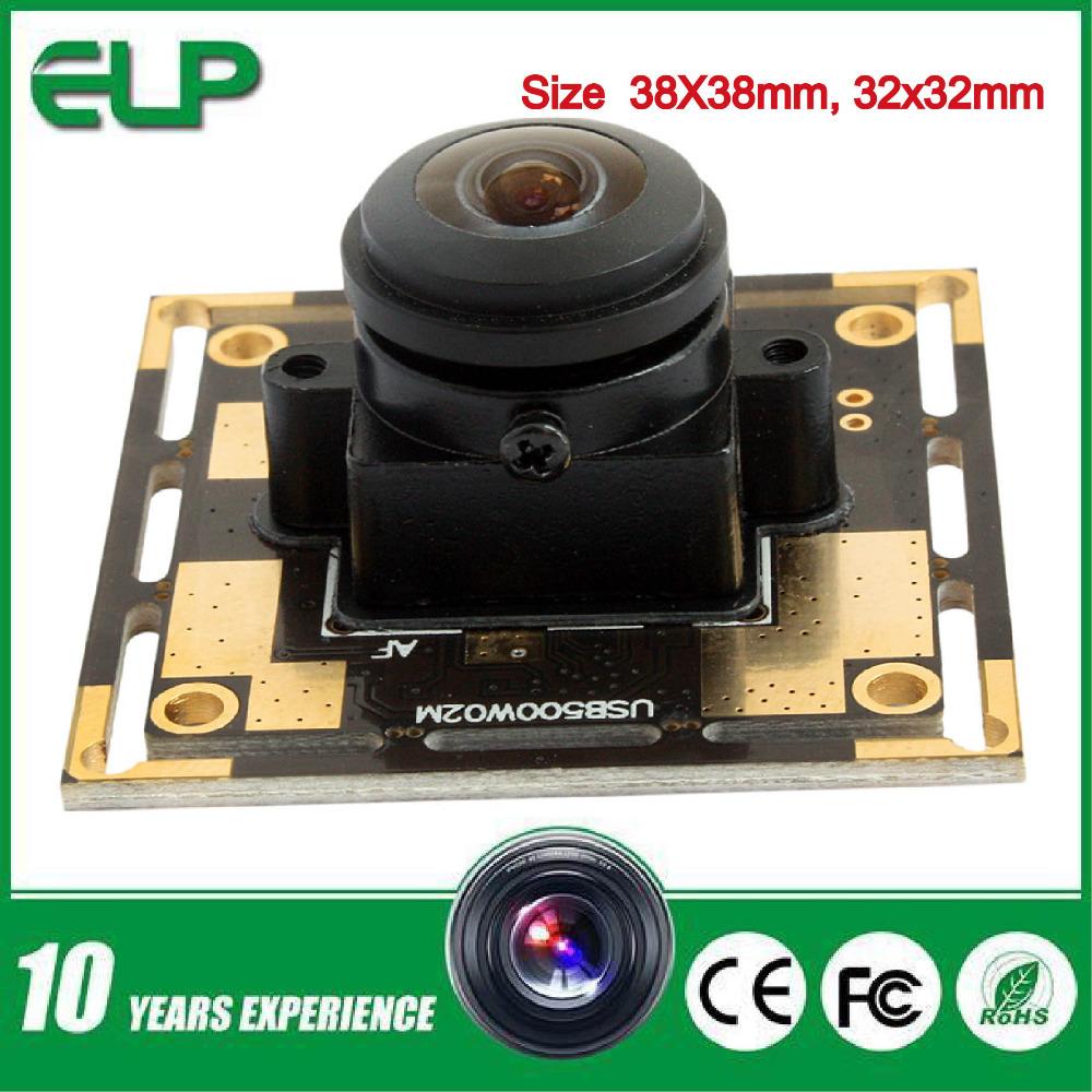 5 MegaPixels 2592*1944 MJPEG &amp;YUY2 micro mini  UVC 1.1 170degree fisheye lens wide angle usb camera module <br><br>Aliexpress