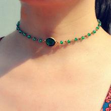 Artilady hạt pha lê Vòng Cổ Choker vàng màu dây vòng đeo cổ cho nữ trang sức dự Tiệc Quà Tặng(China)