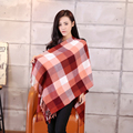 2015 Spring New Brand Fashion Plaid Scarf for Men Fashion Design Long Warm Beige Tassel Grid