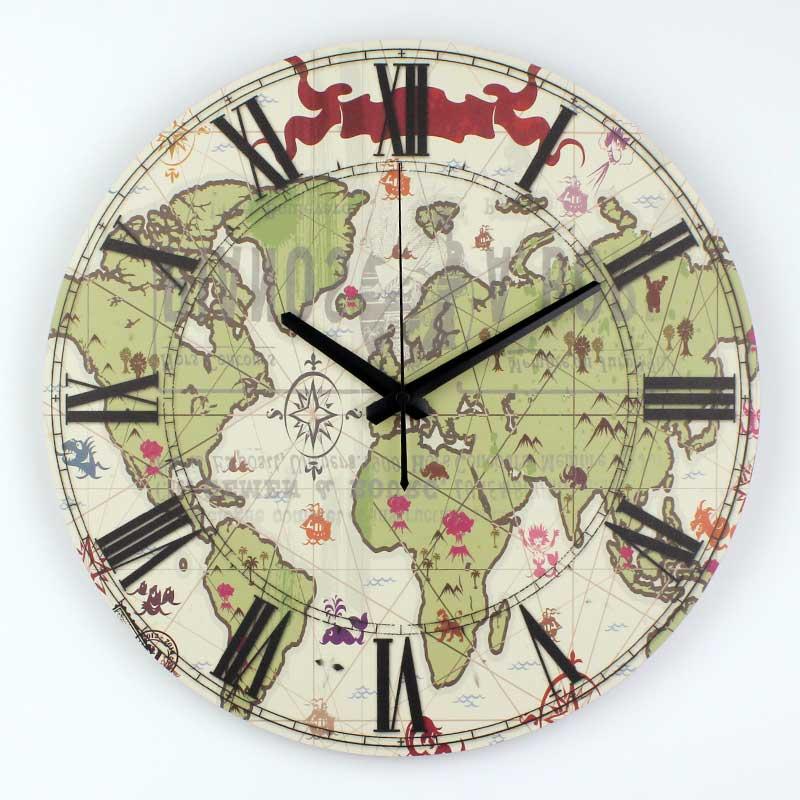 Horloge murale monde promotion achetez des horloge murale monde promotionnels - Horloge murale monde ...