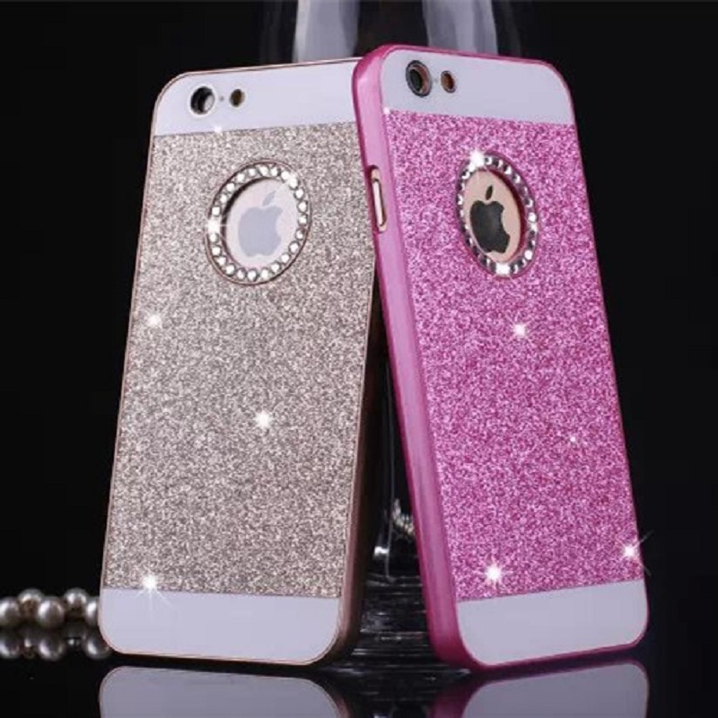 Hot Fashion Luxury Diamonds Don't fall shimmering powder case for iphone 4 / 4s / 5 / 5s / 5 SE / 6 / 6s / 6 Plus / 6S Plus(China (Mainland))