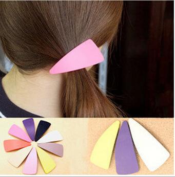 611 Hot Promotion Send Random Candy Colors Bangs Clip Hair Clip Women's Headwear Ladies Hairpin Hair Accessory FD892(China (Mainland))