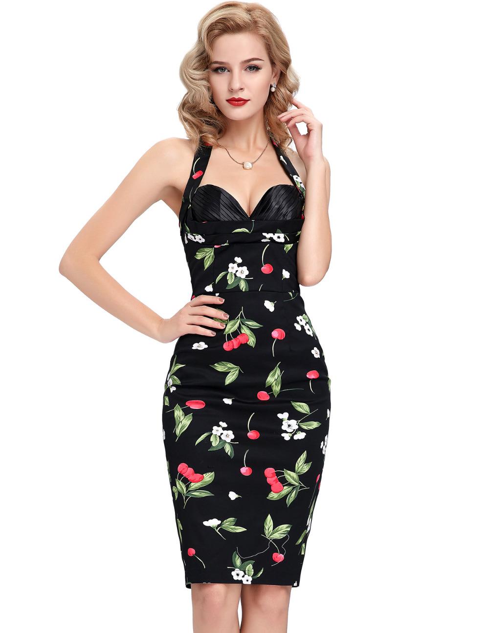 Aliexpress.com Comprar 12 patrones cortos vestidos noche 2016 Formal Flora lunares Retro Vintage Wedding Party elegantes vestidos vestidos de noche BP21 de