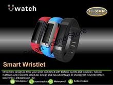 Nueva llegada regalos navidad inalámbrica Bluetooth inteligente u-reloj para el iPhone Samsung S5 WIFI impermeable estofado despertador