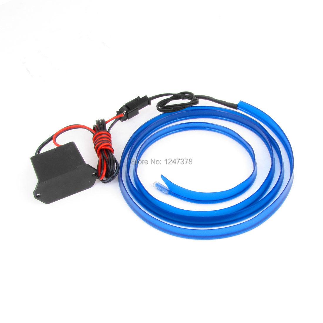 Auto Decorative EL Wire Neon Glow Light Wires Blue 3.3Ft w DC 12V Inverter 1 Piece Decoration Discount 50(China (Mainland))