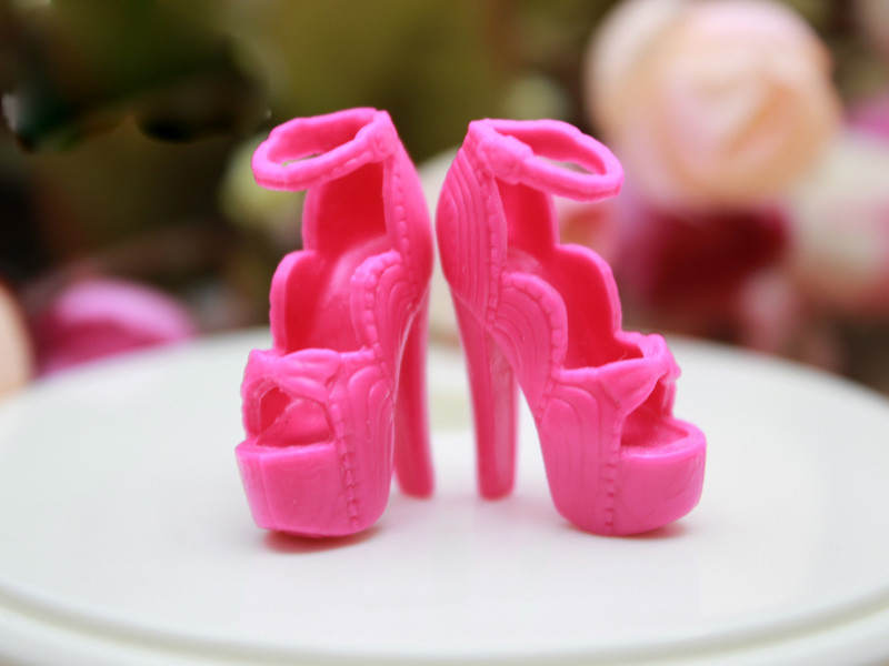 24 New kinds for select Colourful Assorted Informal Excessive heel footwear boots for Barbie 1:6 Doll Style Cute BBI00182