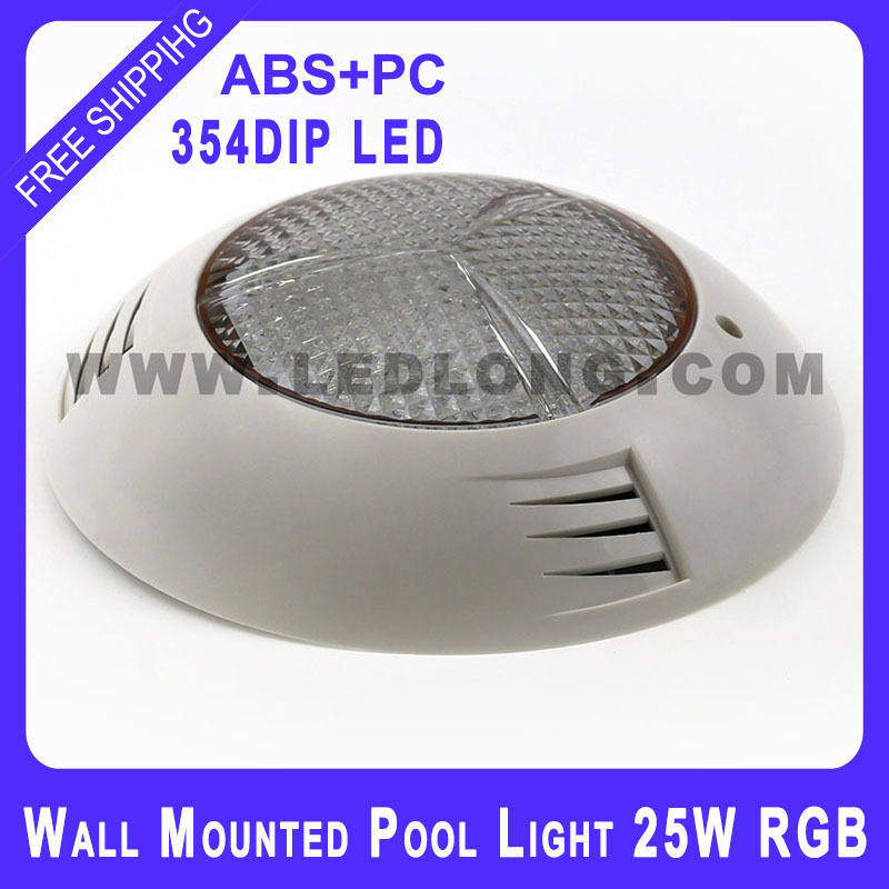 ABS plastic Wall Build Up 25W RGB 280 SIZE swimming pool led lights free shipping(China (Mainland))