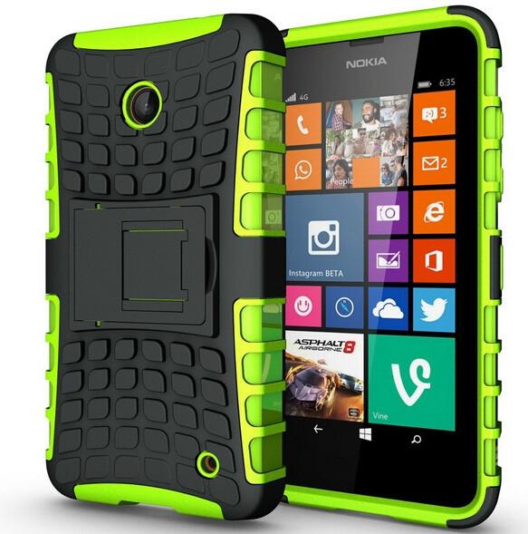 Fundas For Lumia 630 Capa Soft Silicone Hard Plastic Skin Case For Microsoft Nokia Lumia 630 Case Phone Holder Stand Covers { <(China (Mainland))