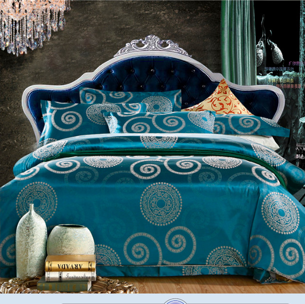 bedding set jacquard 100% cotton bed sheet set Home Textile USA 3-7days Local Delivery duvet cover linen bedclothes bedspread(China (Mainland))