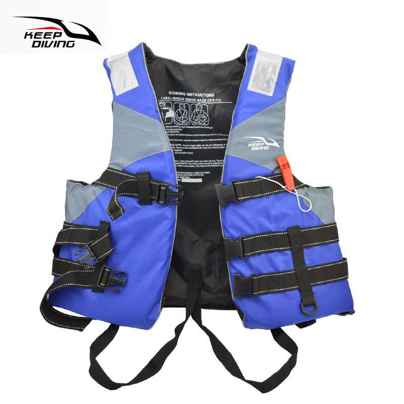 Professional Safety Life Jacket PFD Foam Float Vest For Adult Water Ski Sports Surfing Rafting Boat Canoe Kayak Fishing Sailing(China (Mainland))