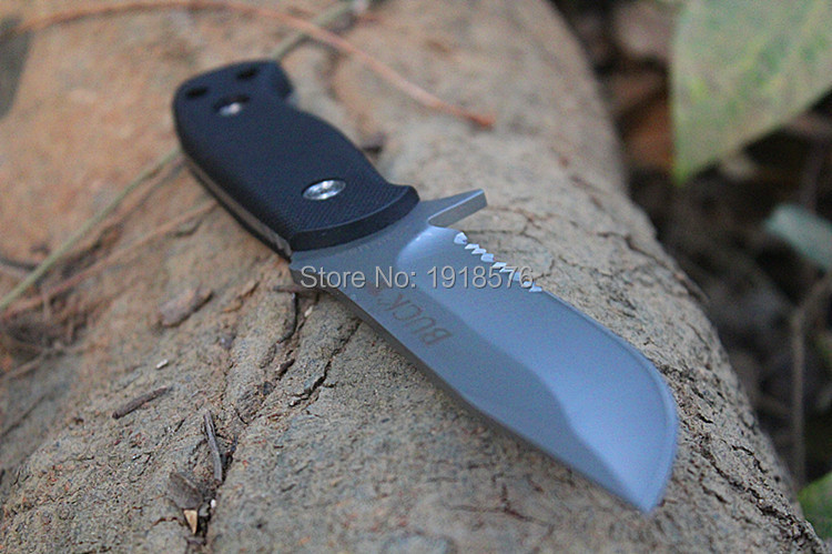 Buy New Buck Fixed Blade Knife 420HC Stainless Steel Hunting Knife Outdoor Survival Straight Knives cheap