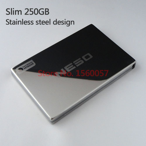 Free shipping Slim Mobile HDD External Hard Drive 250G Wholesale Price 2.5'' Portable Hard Disk USB2.0 Stainless steel design(China (Mainland))