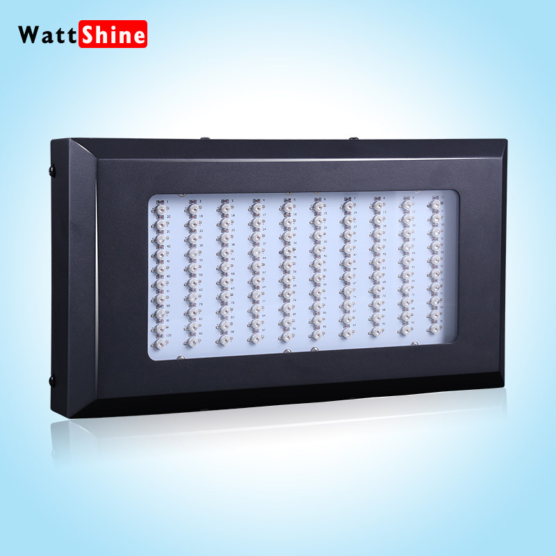 Big promotion 300W Led Grow Lights Full Spectrum 6 bands 100pcs Led Chip Plant Growing Lamp for Flower Vegetables Spain Chile(China (Mainland))