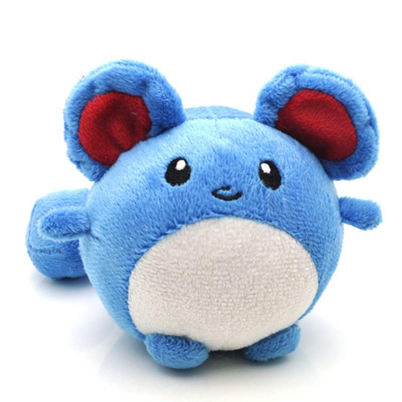 Free Shipping Pokemon Plush Toy 11cm Pocket Monster Tomy Marill Plush Toy Soft Stuffed Animal Toys Doll Gift for Children(China (Mainland))