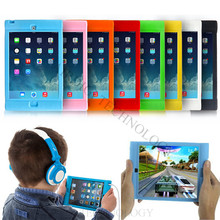 Children Kids Gel Soft Silicone Shock Proof Case Stand Cover Protector for iPad Mini 1/2/3 Retina Candy Color(China (Mainland))