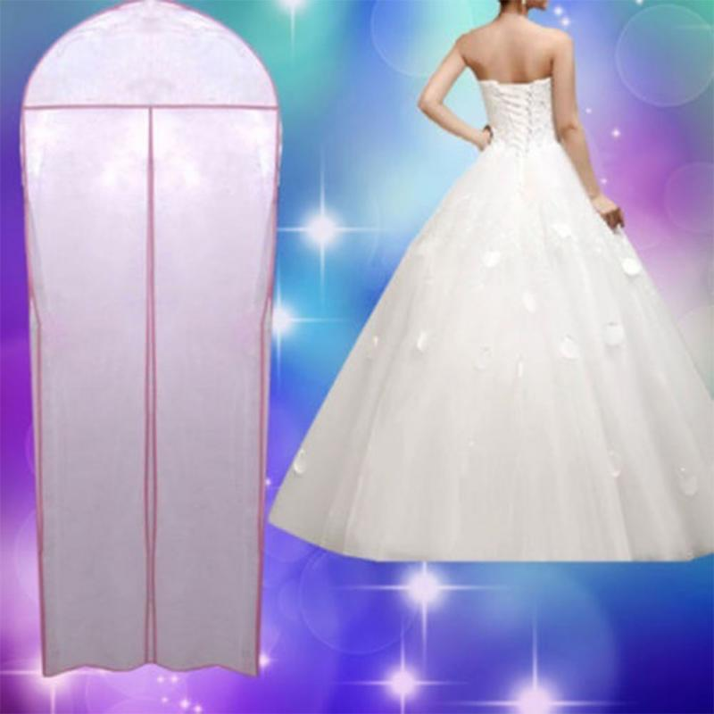 High Quality Wedding Bridal Dress Gown Carry Protections Cover Garment Storage Zipper Bag Wedding Dress Accessaries(China (Mainland))